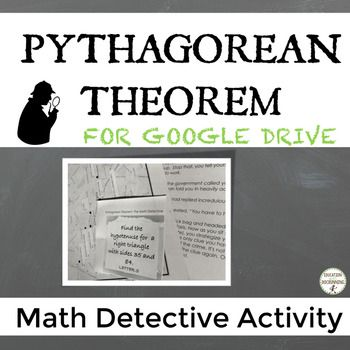 "Are your students ready to solve the case? Students follow clues, solve a variety of Pythagorean Theorem and converse of Pythagorean Theorem problems to complete the mystery that will take students on a ""journey"" around Paris. Excellent for test prep, review or practice!"