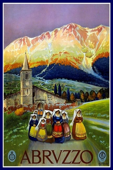 Abruzzo, Italy. Where my people are from. It's no wonder I love mountains! :)