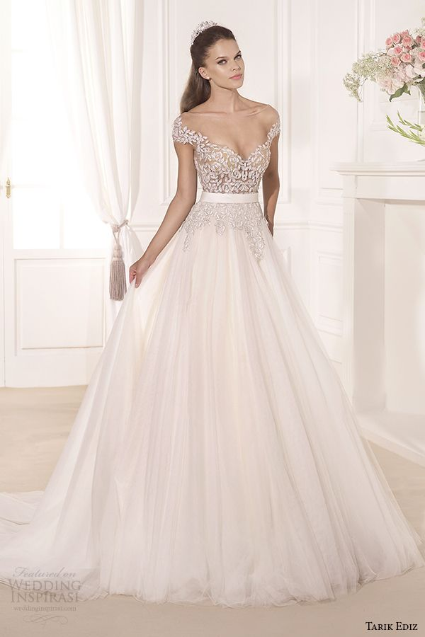 tarik ediz 2014 bridal collection off the shoulder sweetheart a line wedding dress gul
