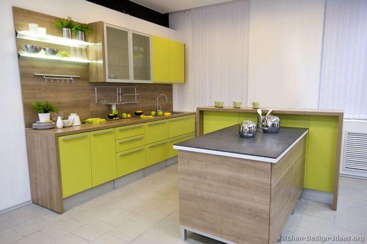Modern Two-Tone Kitchen Cabinets #24 (Kitchen-Design-Ideas.org)