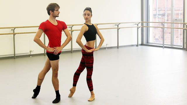 Called Port De Bras, this routine progresses on from the gentle routine of Core de Ballet and introduces a more complex series of exercises which are aimed at toning the whole body. Menzies again leads the routine, this time with Scottish Ballet dancers Victor Zarallo and Brenda Lee Grech.