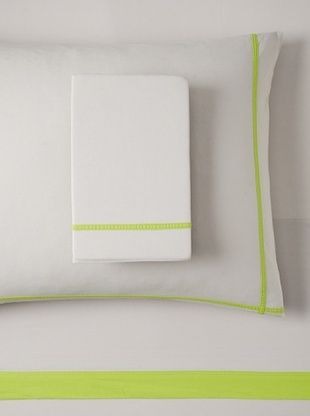 68% OFF OYO Bedding Taped Stone Wash Sheet Set (Charcoal/Neon Yellow)