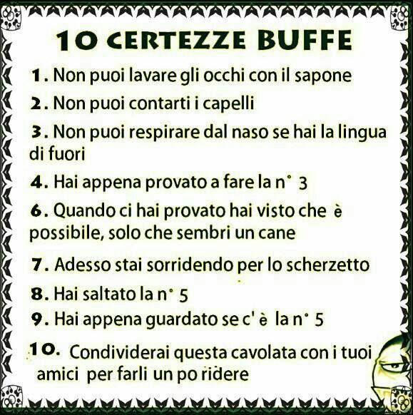 10 CERTEZZE BUFFE http://www.ilpeggiodellarete.it/10-certezze-buffe/