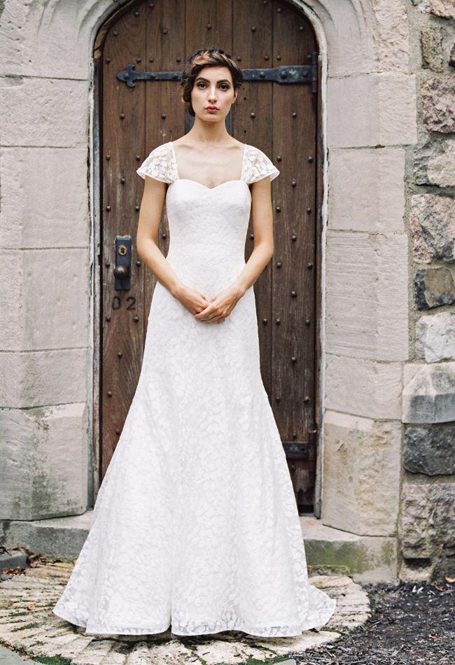 Cap Sleeve A-Line Wedding Dress | Sareh Nouri Wedding Dresses Fall 2015 | Blog.theknot.com