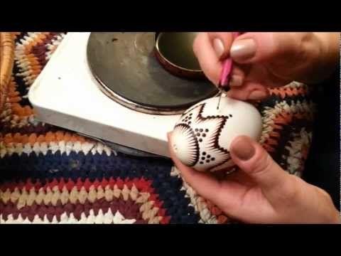 Traditional polish easter egg