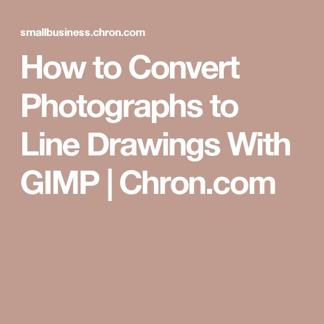 How to Convert Photographs to Line Drawings With GIMP   Chron.com