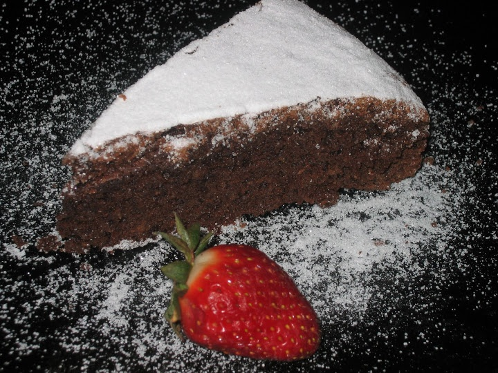 Torta caprese de chocolate y almendras ~ Pasteles de colores