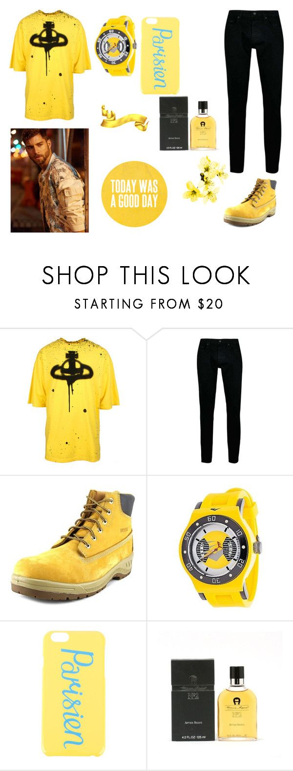 """Капитан Крюк"" by skala-1 on Polyvore featuring Vivienne Westwood Anglomania, Topman, Wolverine, Everlast, Maison Kitsuné, Etienne Aigner, men's fashion и menswear"