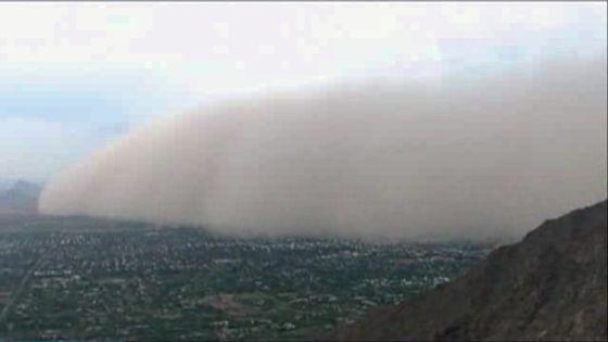 Gigantesca tormenta de polvo en Arizona