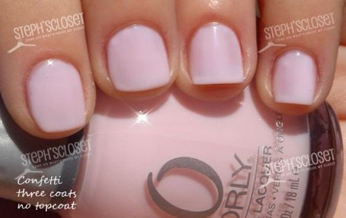 Orly confetti. This is the color Kim kardashian wore for her wedding @kellymarie