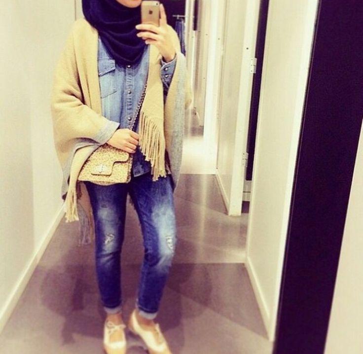 Pingl Par Sur Hijab Fashion Pinterest