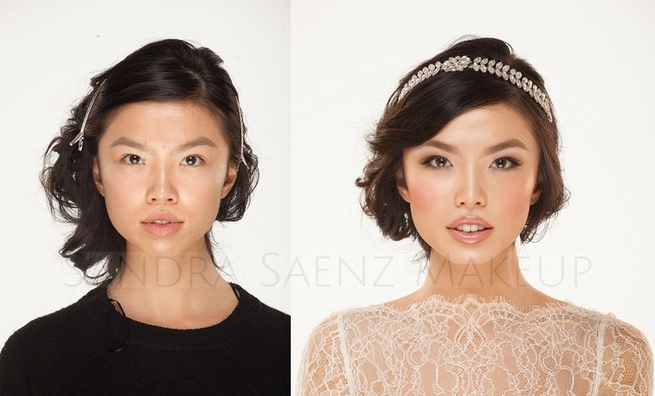 It's not just about applying makeup. Its about finding that perfect balance between colors and where the makeup is being applied. Nude pink colored lips, soft defined smokey eyes and properly arched brows made this bride look stunning! Need a Makeup Artist for your local or destination wedding? Contact us! We'd love to hear from you.