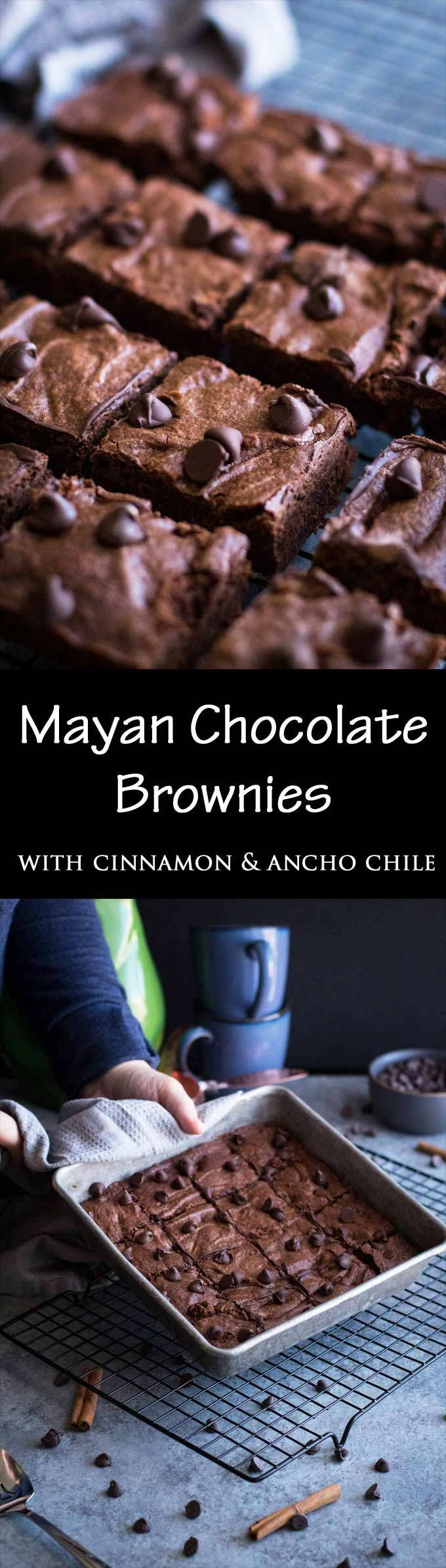 These Mayan Chocolate Brownies are a fool-proof easy recipe for fudgey brownies with hints of cinnamon and ancho chile!