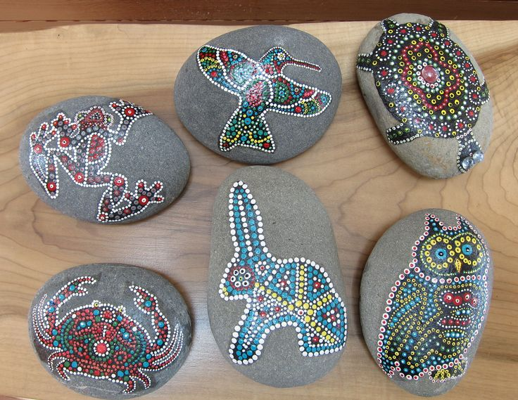 dot painted rocks