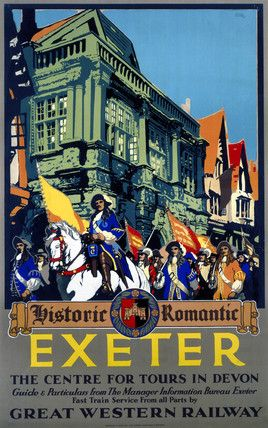 'Historic Romantic Exeter', GWR poster, 1923-1947. by Carr, Leslie at Science and Society Picture Library