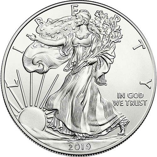 2019 1 Oz American Silver Eagle Coin Bu Silver Bullion Coins Silver Eagle Coins Silver Bullion