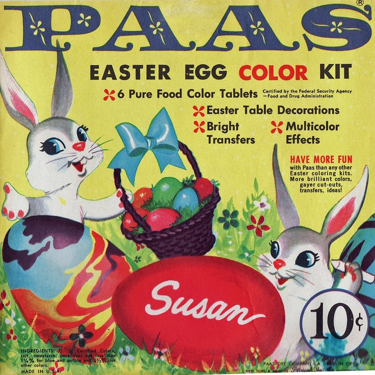 PAAS Easter Egg Color Kit Vintage Paas Pinterest