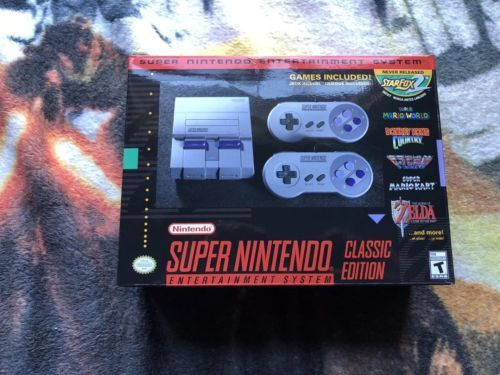 Super Nintendo Entertainment System: Super NES Classic Edition: $44.00 (0 Bids) End Date: Wednesday Mar-14-2018 17:24:09 PDT Buy It Now for…