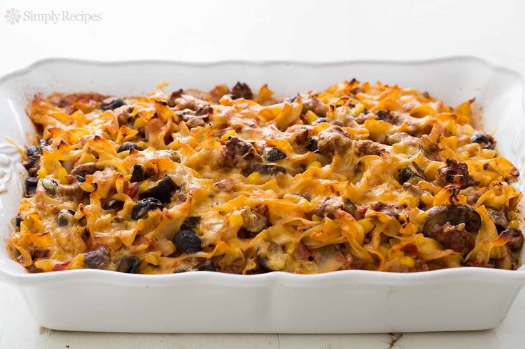 BEST Beef Noodle Casserole EVER! Our favorite recipe from my grandmother is this ground beef and egg noodle casserole with you won't believe all the other wonderful ingredients. Serves a crowd! On SimplyRecipes.com