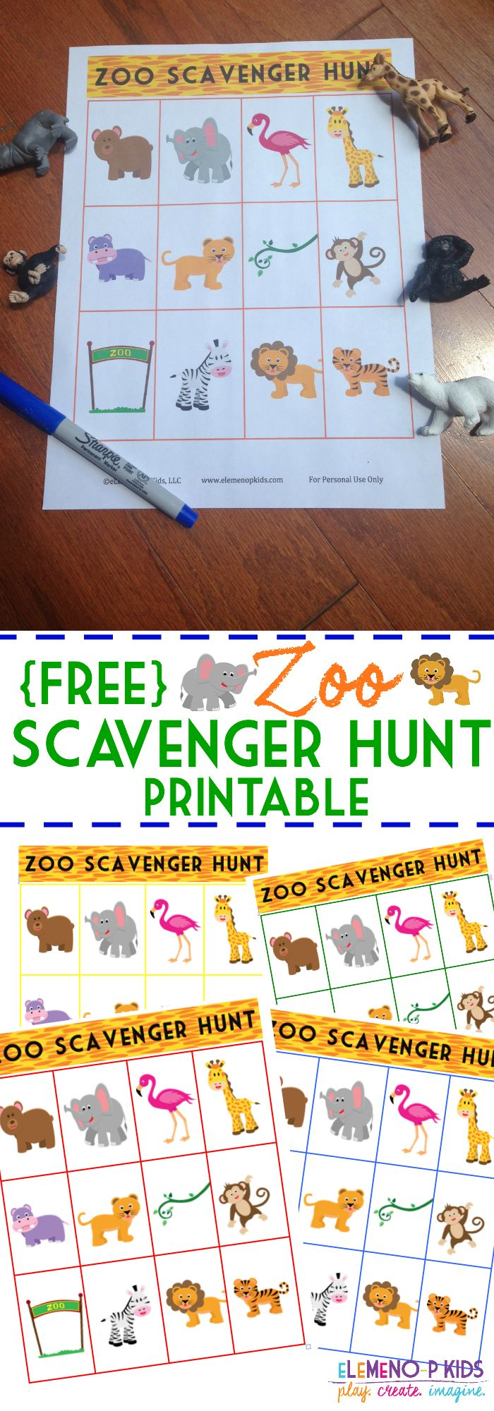 FREE Zoo Scavenger Hunt Printable!