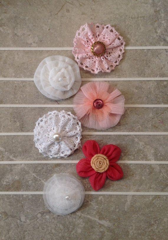Baby headband, Newborn headband, Baby girl headbands, Vintage headband set, Photo prop, 6 Baby headbands -BL182 on Etsy, $13.95