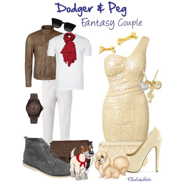 """""""Dodger & Peg - Fantasy Couple"""" by cheshirehatter on Polyvore"""