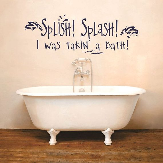 Splish splash bath wall decal sticker