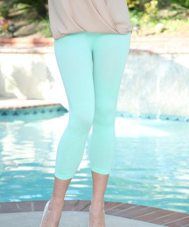 Loving this Mint Capri Leggings on #zulily! #zulilyfinds