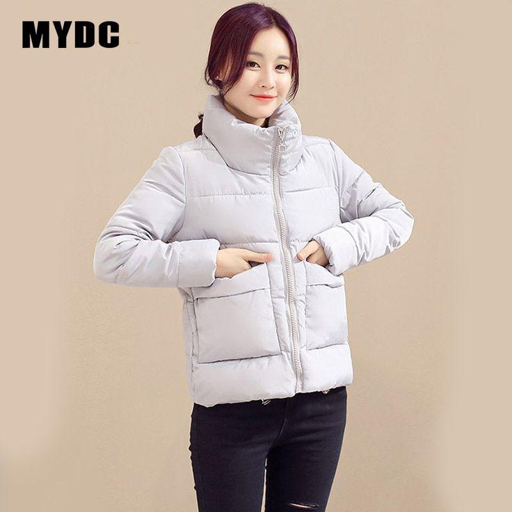 Mydc хлопковой подкладкой парка сладкий Стиль Ultra Light зимняя куртка Для женщин купить на AliExpress