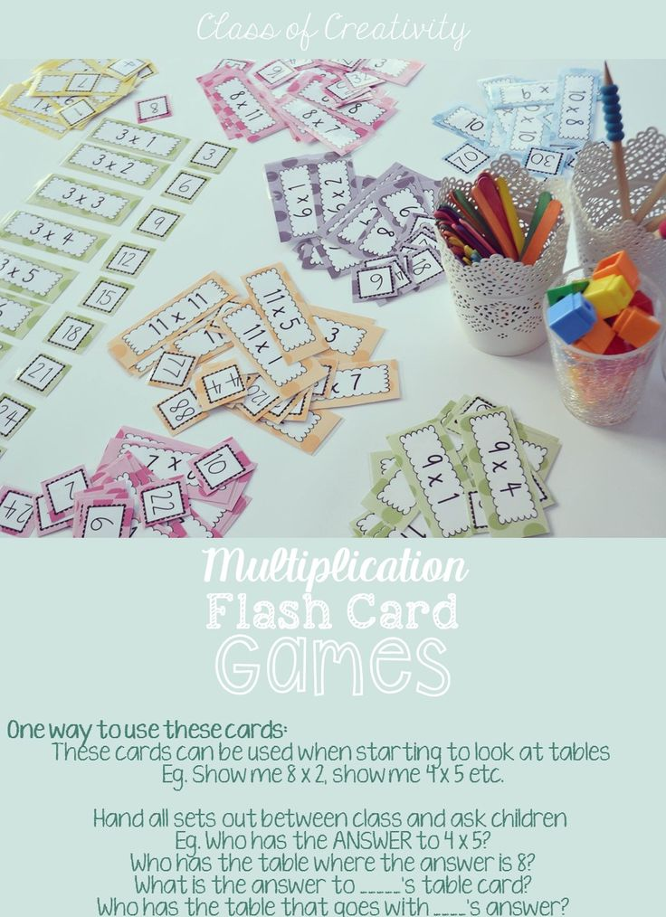 Multiplication Cards on TPT, these have SO many uses!