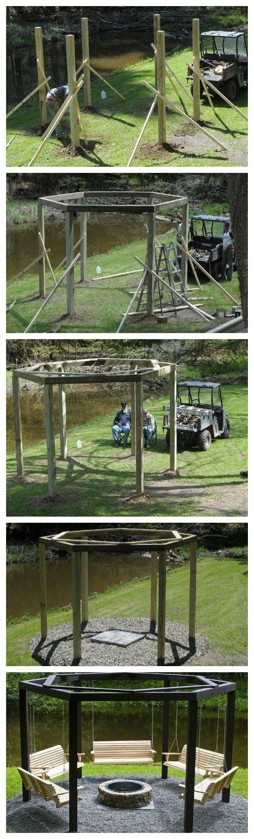 DIY backyard swing circle @ MyHomeLookBookMyHomeLookBook by Ink-de-l'Art