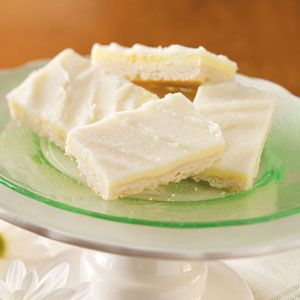 """Diabetic Friendly Almond Cheesecake Bars -- Not necessarily a dessert I'd want all the time, but it calmed my craving for sweets while I had gestational diabetes.  Mine never firmed up quite like the picture, though.  The """"icing"""" was always a bit runny and sticky. (Made March 2012) (KJ)"""