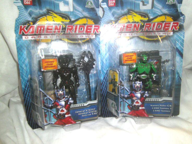 Kamen Rider /Dragon Knight - 2 Figures - General Xaviax & Kamen Rider Camo - New