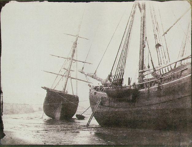 Ships at Low Tide, c. 1844    http://j5ncj.blogspot.com/2010/10/unit-305-photographer-william-henry-fox.html