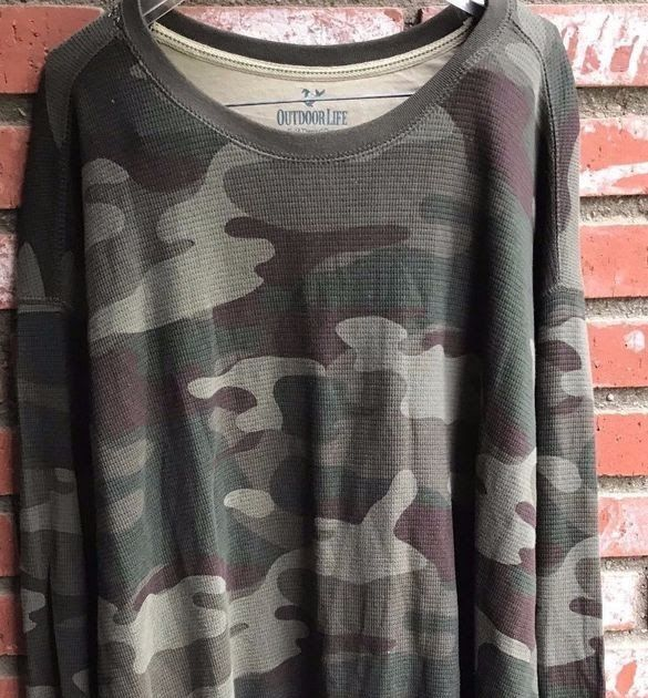 Outdoor Life Men's long sleeve camouflage shirt size 3XL (K88)
