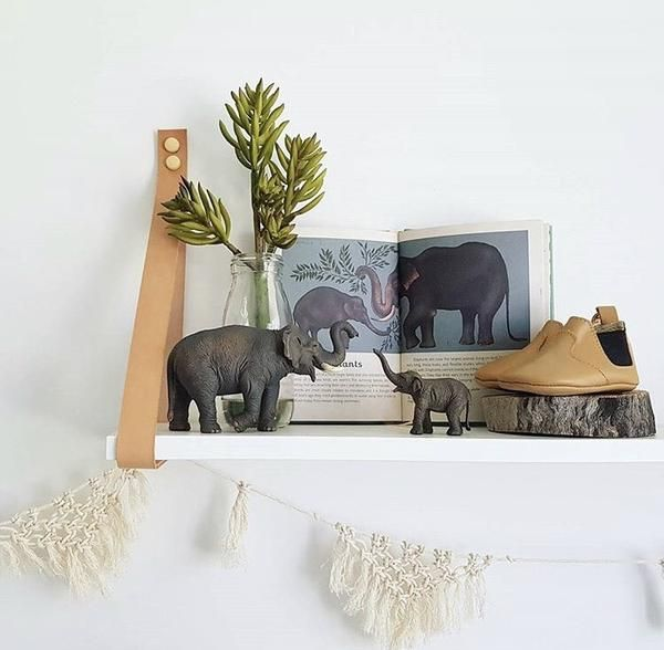 Ellie the Elephant + Elephant Calf, pictured with Animalium Mini Book.  All available online www.oh-ivy.com
