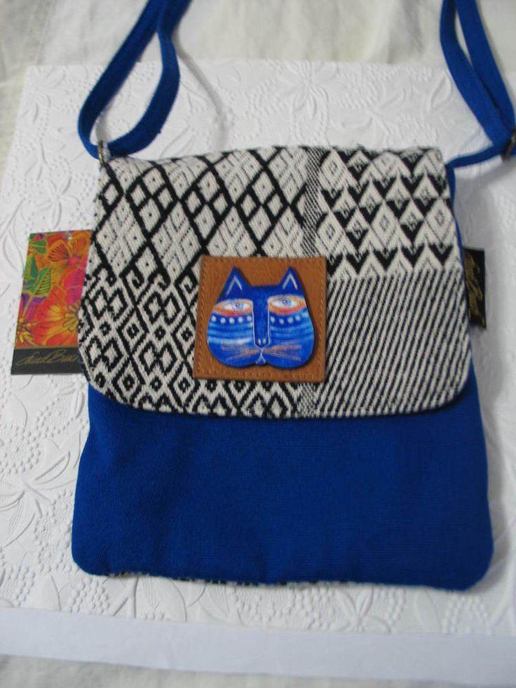 NWT Laurel Burch Shoulder Bag Ethnic Tribal Fabric w Cat Face Whimsical Cute #LaurelBurch #ShoulderBag