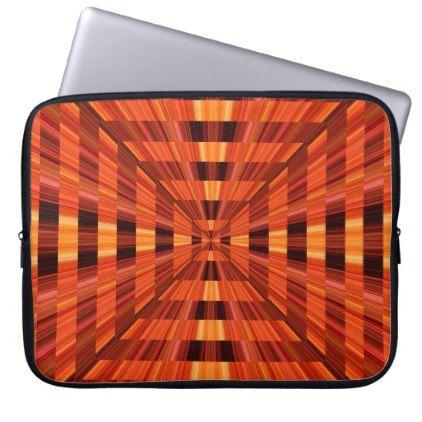 Orange Radiance Abstract Laptop Notebook Case Bag - modern style idea design custom idea