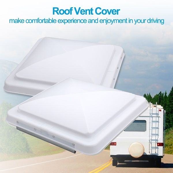 2 Packs 14 X 14 Universal Replacement Rv Roof Vent Cover White Vent Lid For Camper Trailer Motorhome Roof Vent Covers Vent Covers Roof Vents