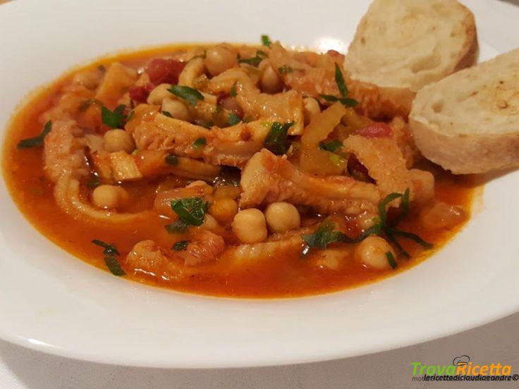 Zuppa di trippa e ceci  #ricette #food #recipes