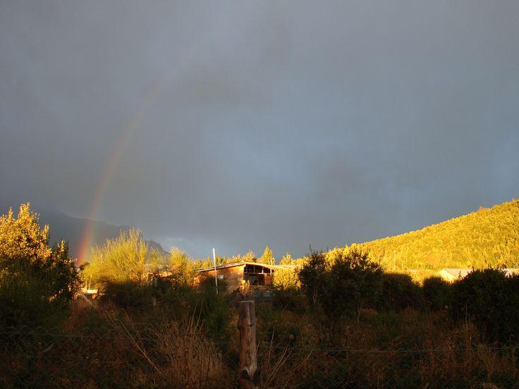 Otoño con cerro Otto y Ventana de fondo. #Bariloche