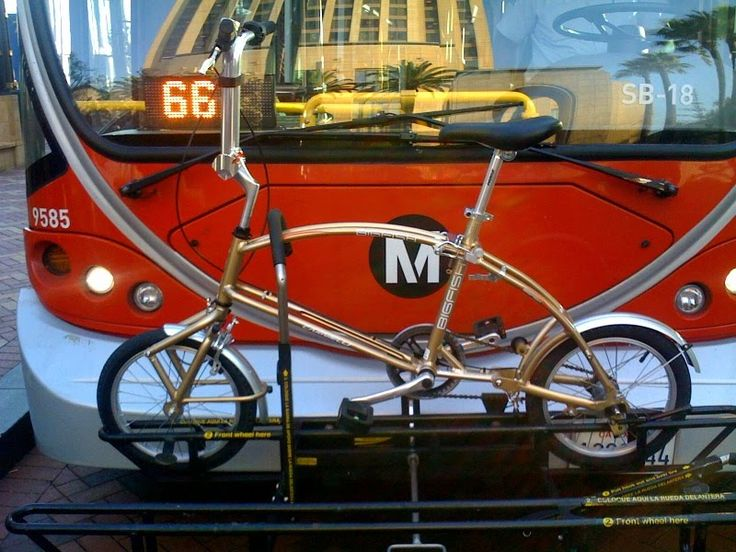 Yes A Bigfish Folding Bike Can Fit On A Bus Rack Here S One We