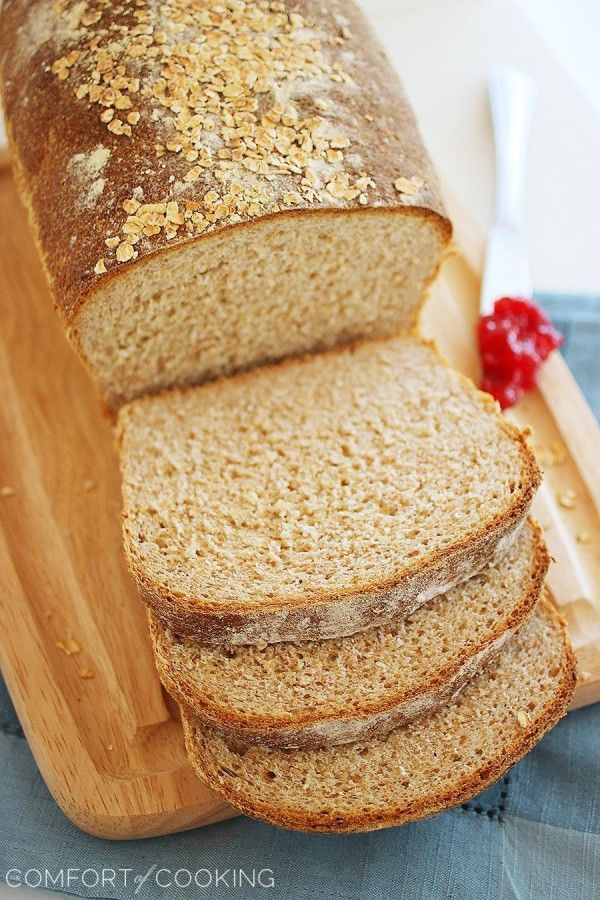 Whole Wheat Honey Oatmeal Bread Soft And Fluffy Homemade Whole Wheat Bread With A Touch