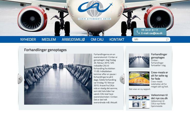 Så kom der endnu en ny Wordpress hjemmeside i luften: http://cau.dk/