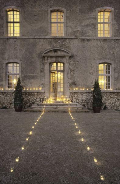 amazing outside decoration: Idea, Exterior, Dream, Wedding, De Moissac, House, Chateau, Place, Light