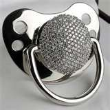 oh. my. gawd!! A microphone pacifier?? Is this not the CUTEST gift for a rock and roll themed baby shower??
