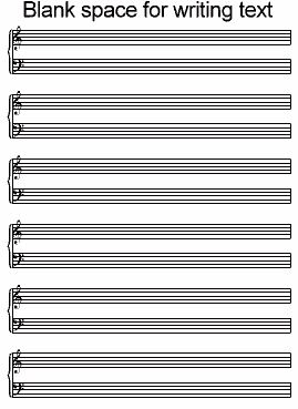 Free blank sheet music/Tab for guitar, mandolin, bass, etc...