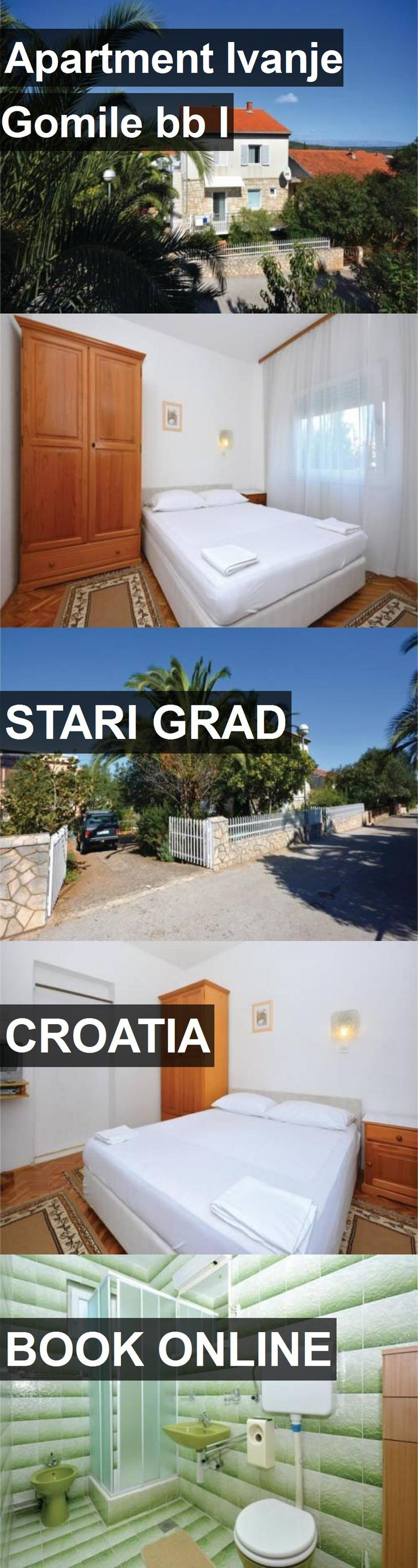 Apartment Ivanje Gomile bb I in Stari Grad, Croatia. For more information, photos, reviews and best prices please follow the link. #Croatia #StariGrad #travel #vacation #apartment