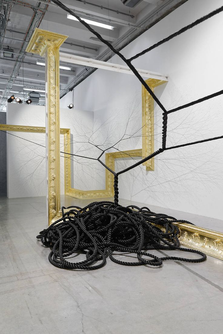 Golden Frames & Black Ropes Installation – Fubiz Media