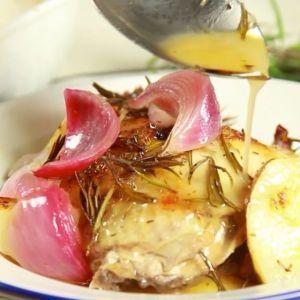 Pollo Asado Basico para hacer en casa rico y saludable!
